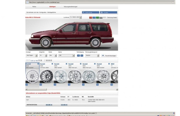 Richtige Reifengröße online finden