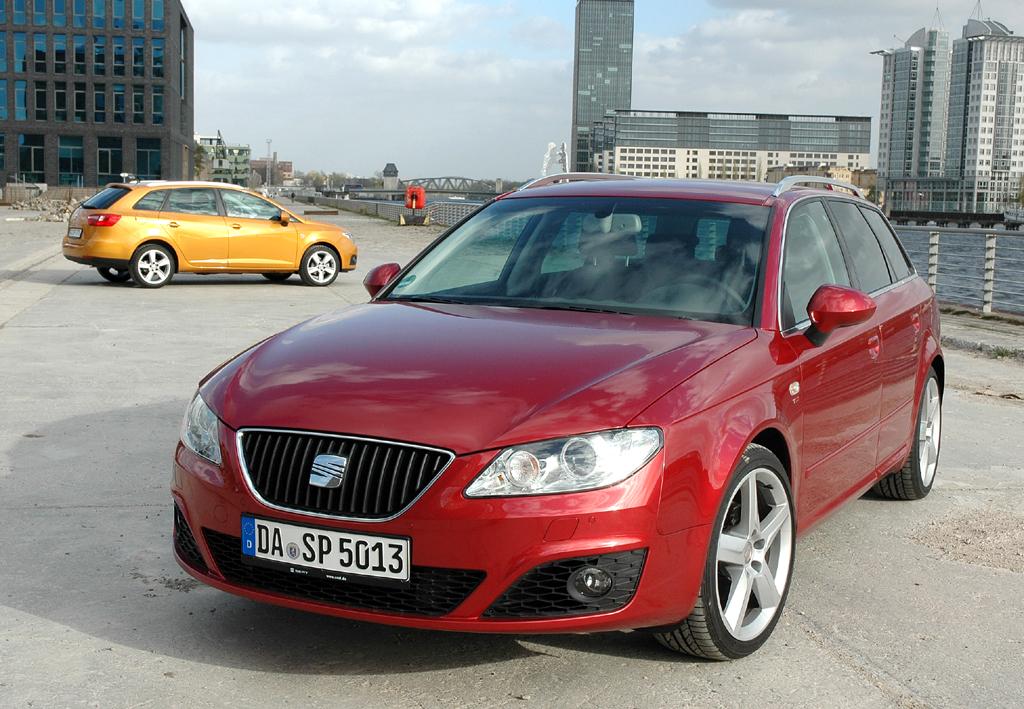 Seat aktuell: Die Kombis Exeo ST (vorn) und Ibiza ST sind auch gut fürs Flottengeschäft.