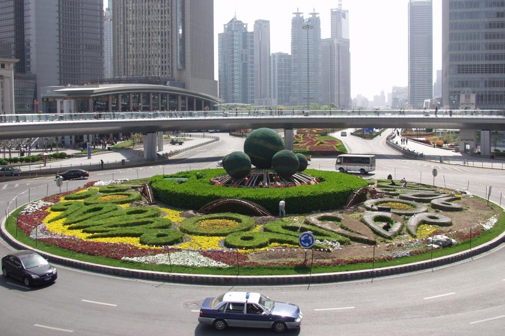 So ruhig geht es im quirligen Finanzdistrikt von Schanghai nur sehr selten zu.