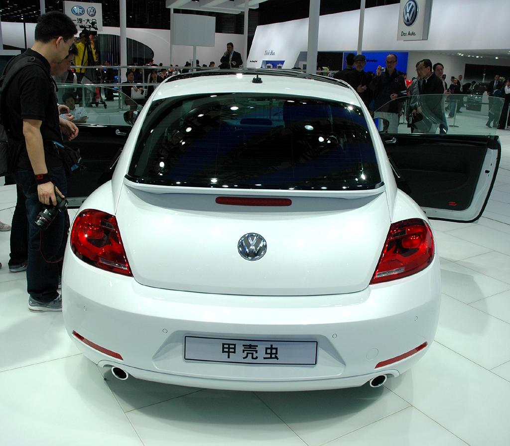 VW Beetle: Blick auf die Heckpartie.