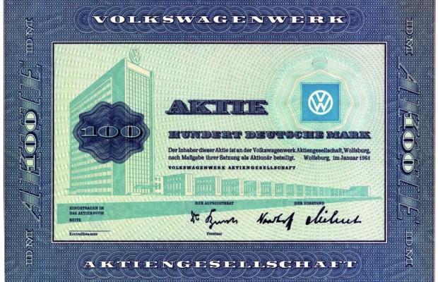 Volkswagen-Aktie wird 50 Jahre alt