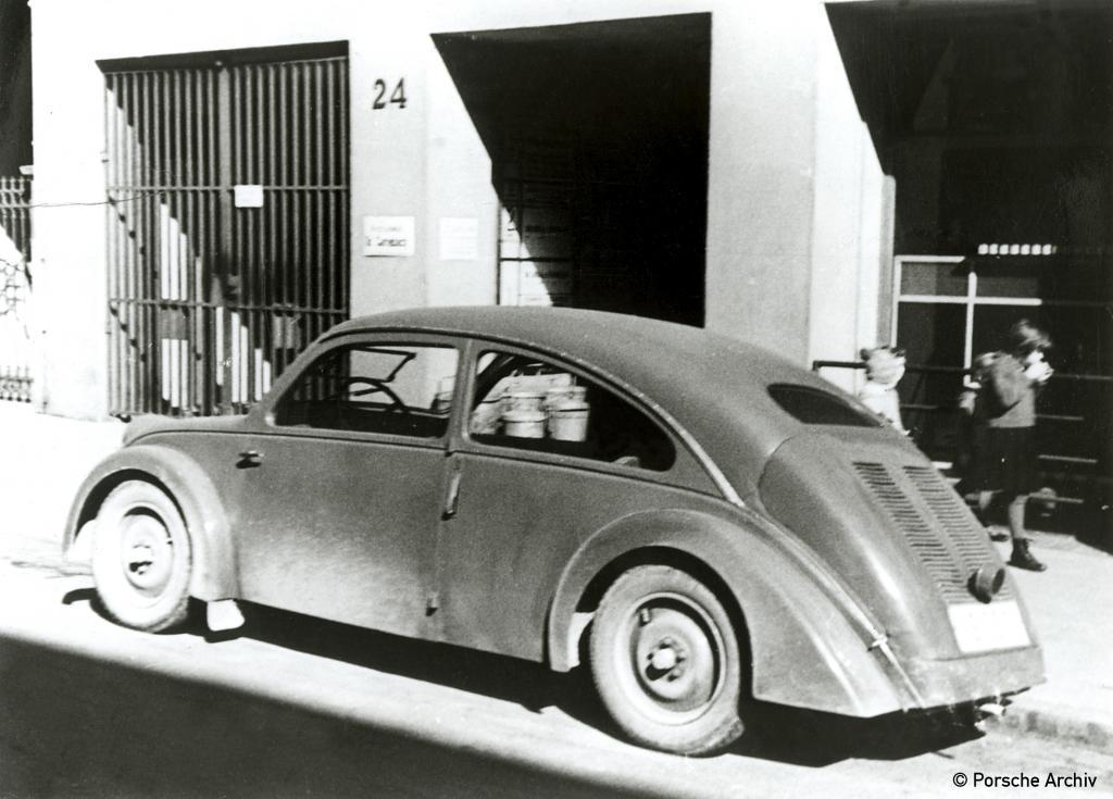 Vorläufer des VW Käfer: der für NSU gebaute Porsche Typ 32 (1934).