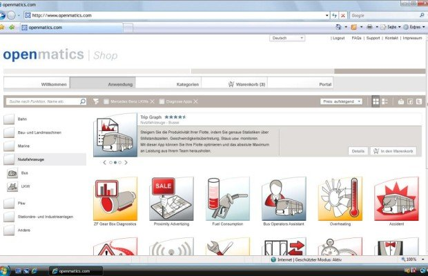 ZF baut im Internet Verkauf von Telematik-Apps auf