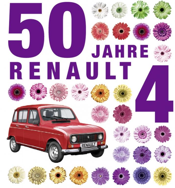 Zum 50. Geburtstag - Das Buch zum Renault 4
