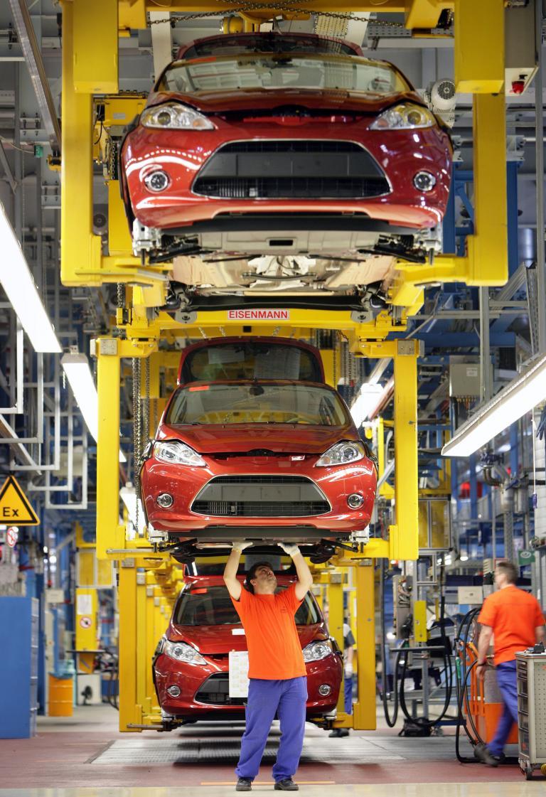 80 Jahre Ford in Köln: Fiesta-Produktion.