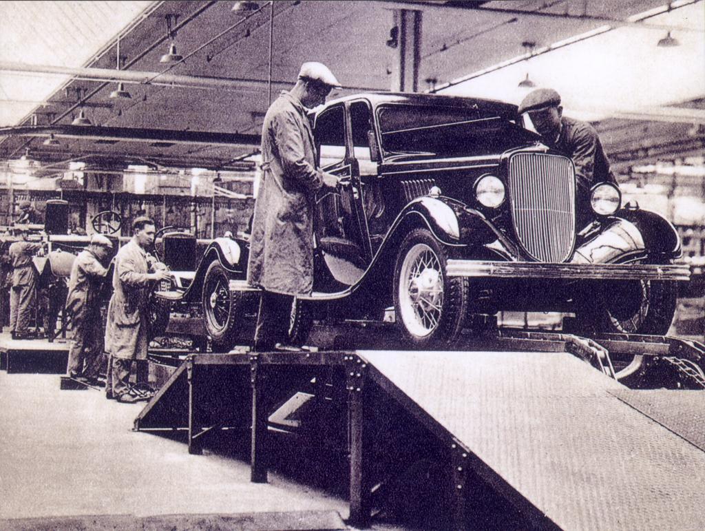 80 Jahre Ford in Köln: Produktion 1933.
