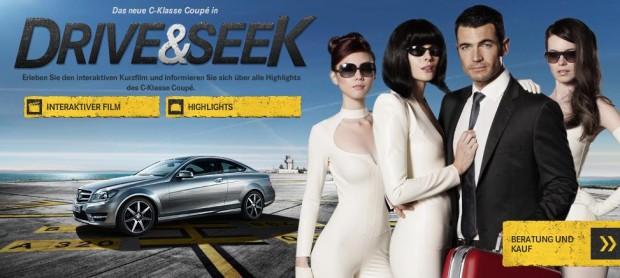 Böse Mädchen, sexy Agenten und schnelle Karren – interaktive Mercedes-Benz-Kampagne
