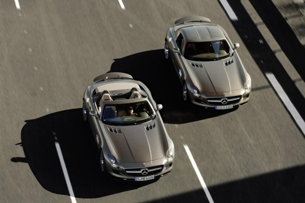 Die ersehnte Cabrioversion des Mercedes-Benz SLS AMG kommt im Herbst auf den Markt.