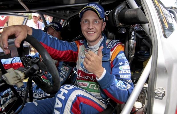 Fiesta RS WRC-Werkspilot Mikko Hirvonen erringt auf Sardinien zweiten Rang