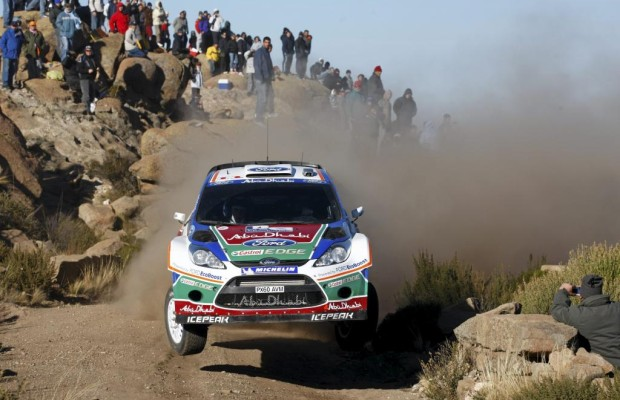 Ford Fiesta RS WRC-Werkspilot Hirvonen in Argentinien auf Rang zwei