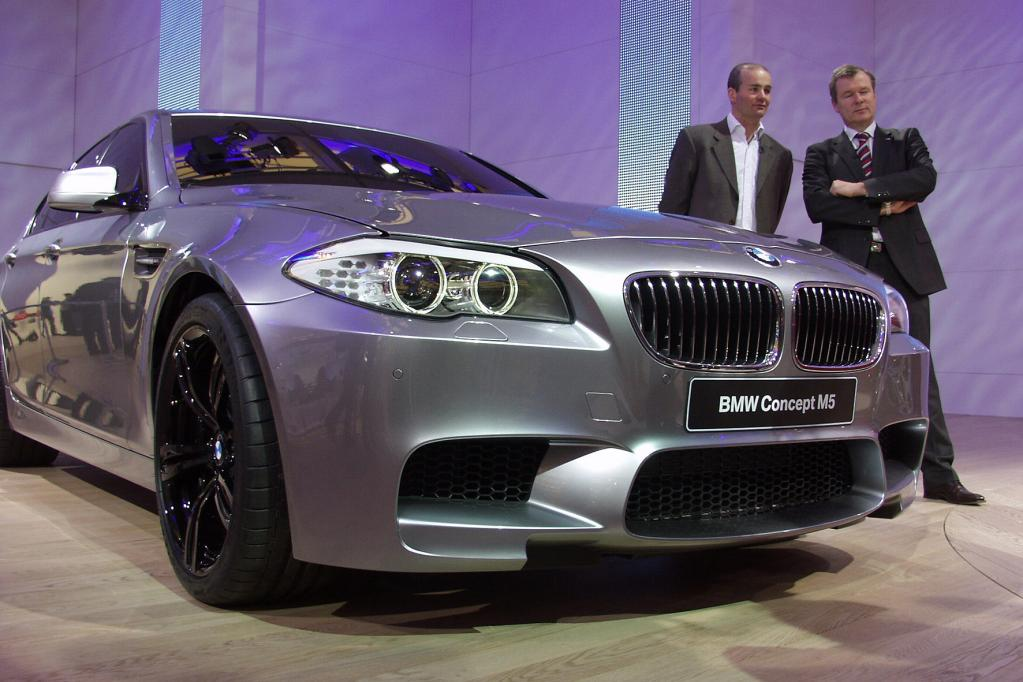 In der seriennahen Vorschau war der neue BMW M5 ein Blickfang auf der diesjährigen