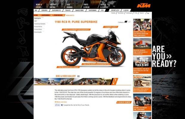 KTM mit neuer Internetseite