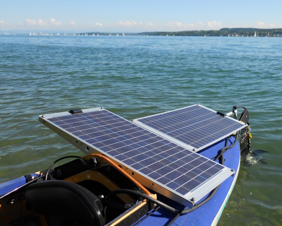 Klepper-Hybrid-Faltboot mit Solarantrieb