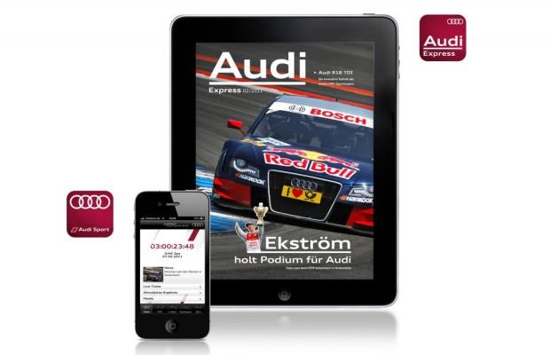 Neue Audi-Apps für Motorsport-Fans