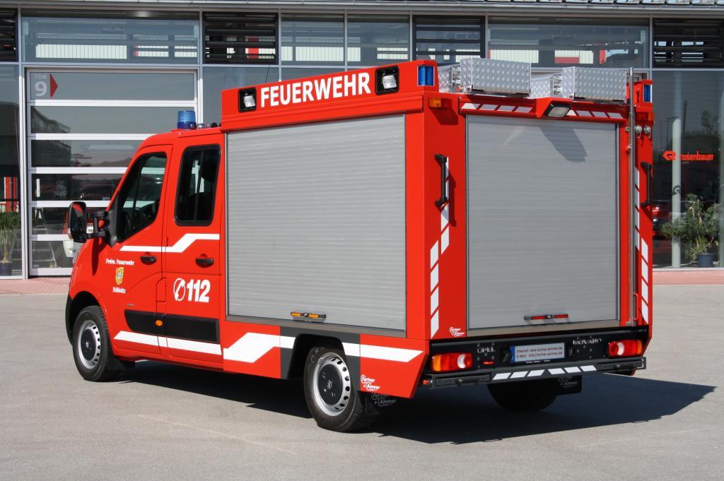 Opel Movano als Tragkraftspritzenfahrzeug (TSF).