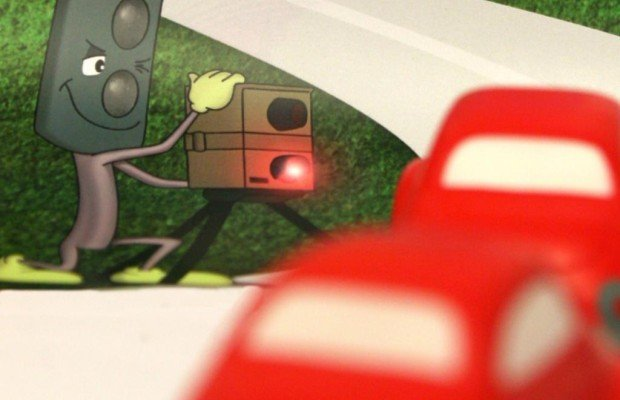 Radarkontrolle - Vorsicht am Ortseingang