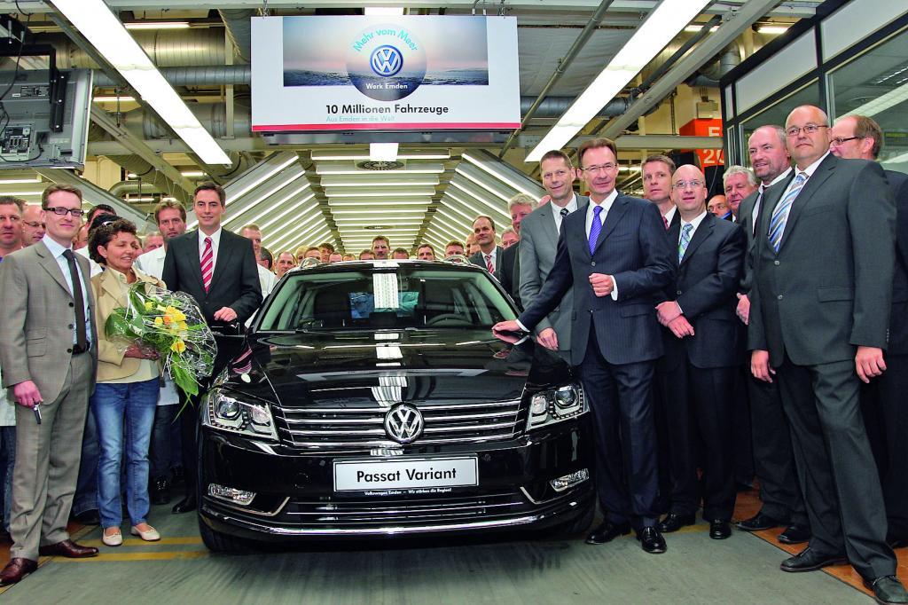 Volkswagen feiert zehn Millionen Volkswagen aus dem Werk Emden