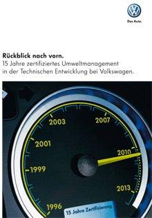 Volkswagen veröffentlicht Jubiläumsbroschüre über das Umweltmanagement