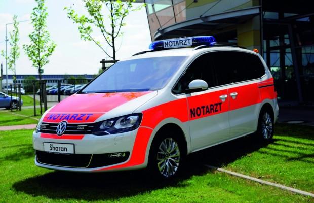 Volkswagen zeigt seine Notarzteinsatzfahrzeuge