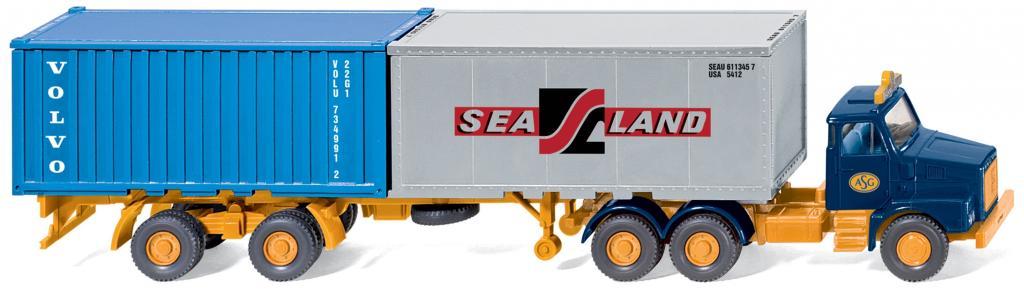 Volvo N10-Containersattelzug von Wiking.