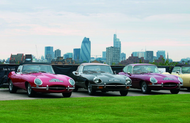 50 Jaguar E-Type fuhren durch London