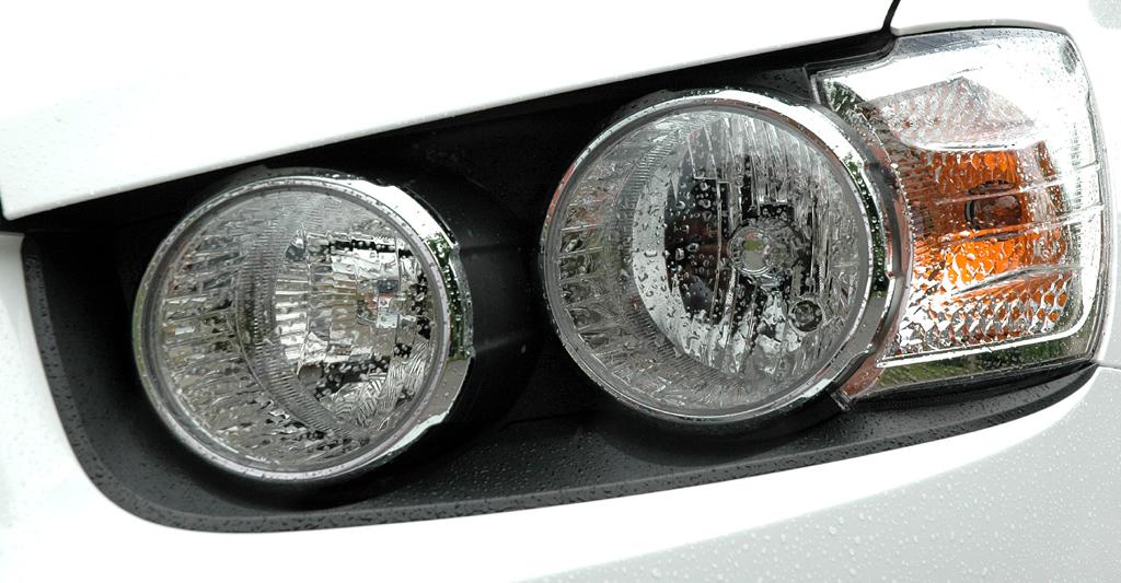 Chevrolet Aveo: Moderne Leuchteinheit vorn ohne Gesamtabdeckung.