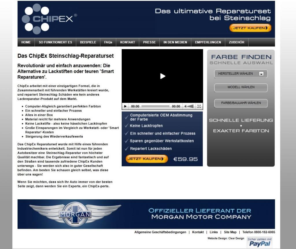 Chip Ex startet deutsche Webseite für Lack-Reparatur
