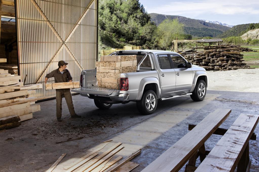 Der VW Amarok ist ein Lademeister, der schwere und sperrige Gegenstände wegsteckt wie nichts.