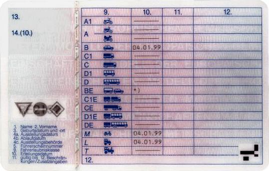 Ein gültiger Führerschein hat eindeutige Merkmale, die ungarischen Beamten haben sie nicht erkannt