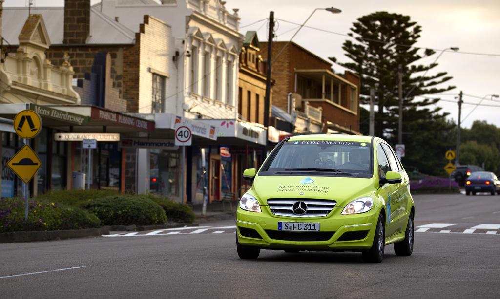 Eine der drei Brennstoffzellen-B-Klassen, hier in Australien.