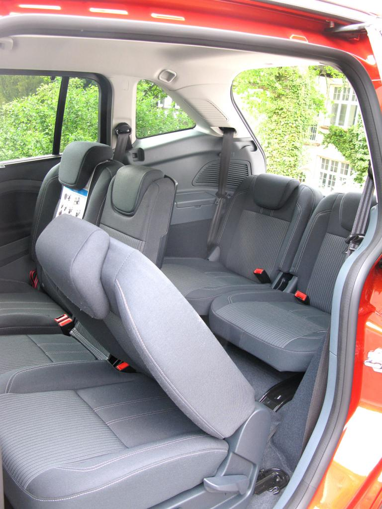 Ford Grand-C-Max: Blick in den Fond des Siebensitzers.