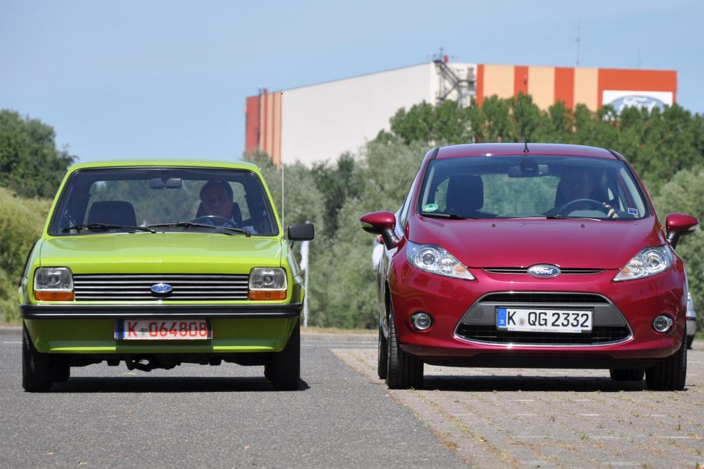 Generationen-Treffen beim Ford Fiesta