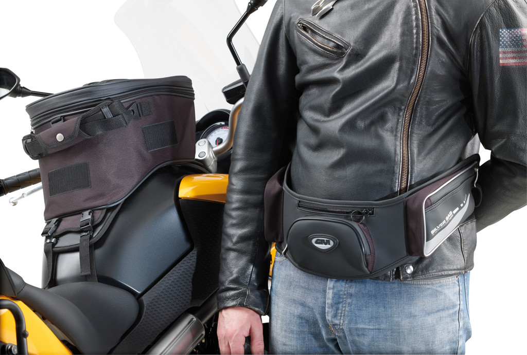 Givi-Tankrucksack mit abnehmbarem Bauchgürtel