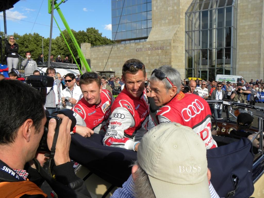 Le Mans 2011: Dindo Capello, Tom Kristensen, Allan McNish (von rechts).