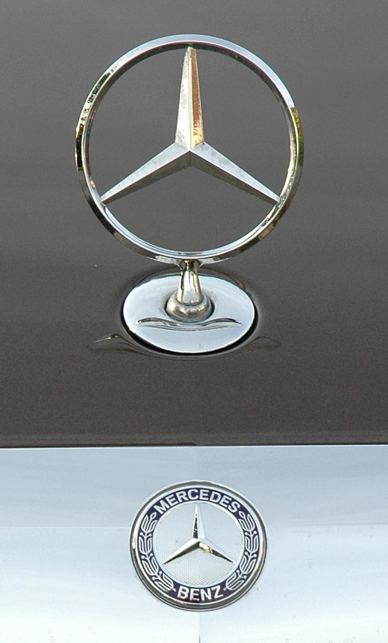 Mercedes S350 Bluetec: Markenstern und -logo sitzen vorn auf der Motorhaube.