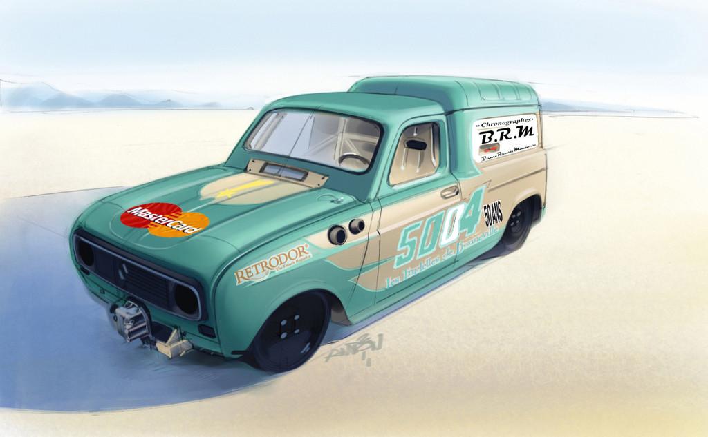Mit dem Renault 4 auf Rekordjagd.