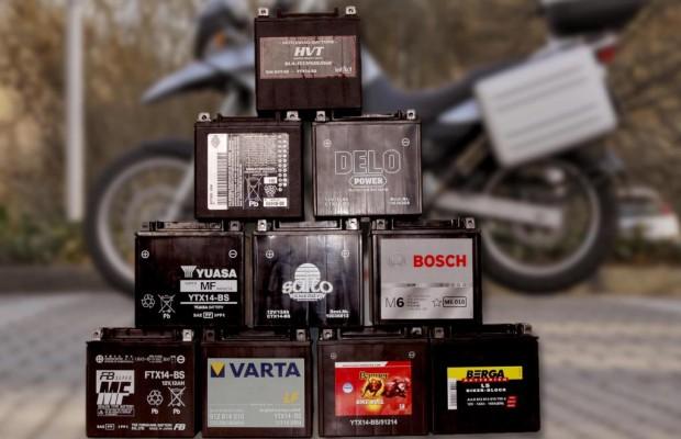 Motorradbatterie auf dem Prüfstand