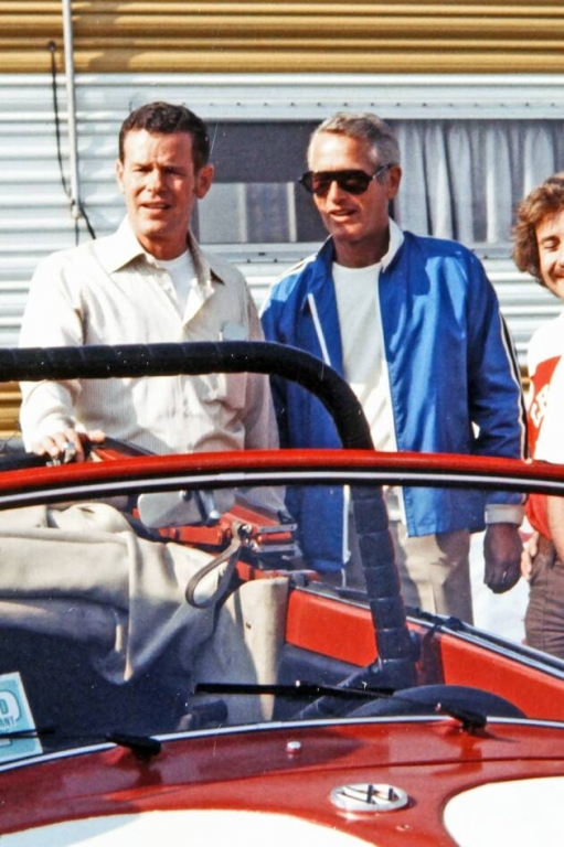 Paul Newman mit dem Fahrer Bobby Unser, Foto: Oldbug