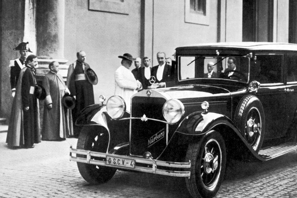 Schon Pius XI. fuhr in den 30er-Jahren Mercedes - hier der Typ Nürburg