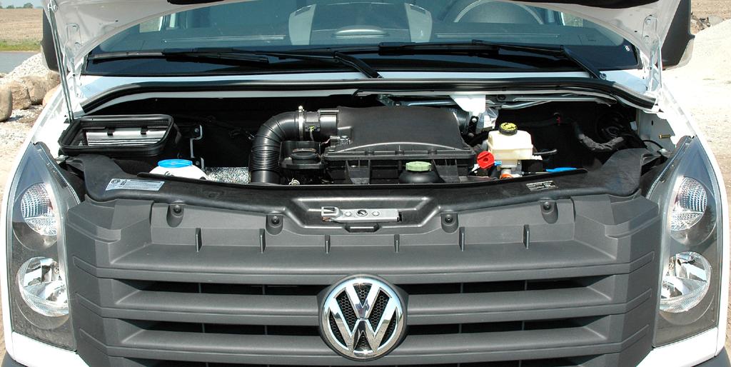 VW Crafter: Blick unter die Motorhaube, drei neue Turbodiesel sind lieferbar.