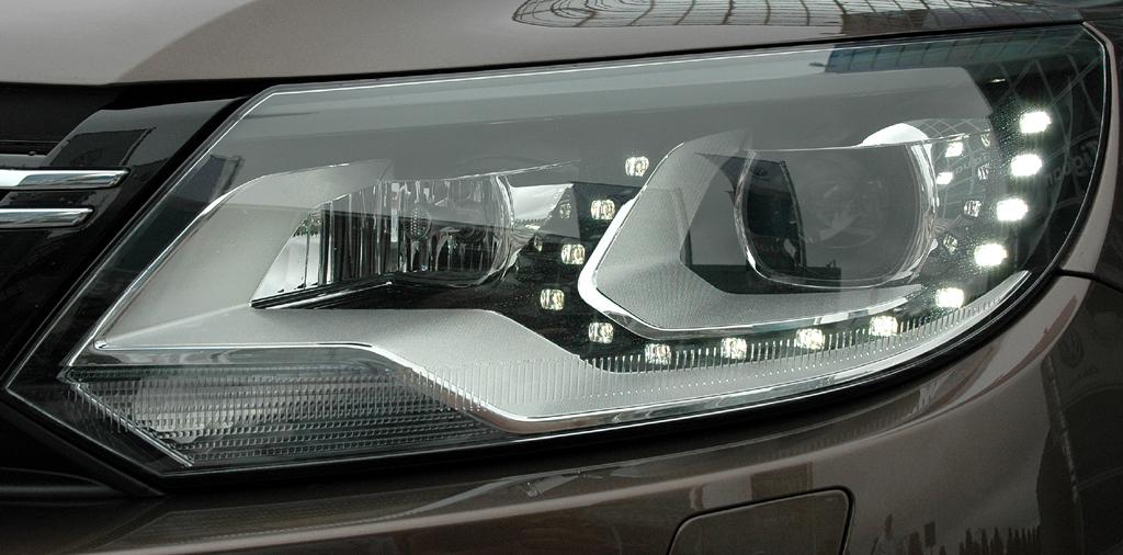 VW Tiguan: Moderne Leuchteinheit vorn.