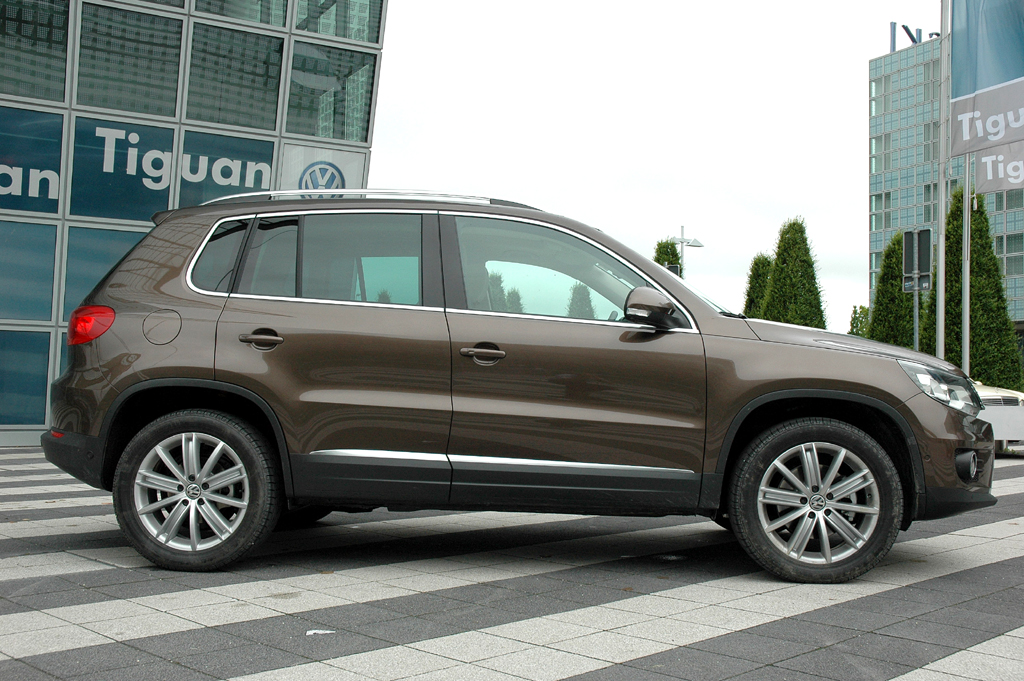 VW Tiguan: Und so sieht die Neuauflage von der Seite aus.