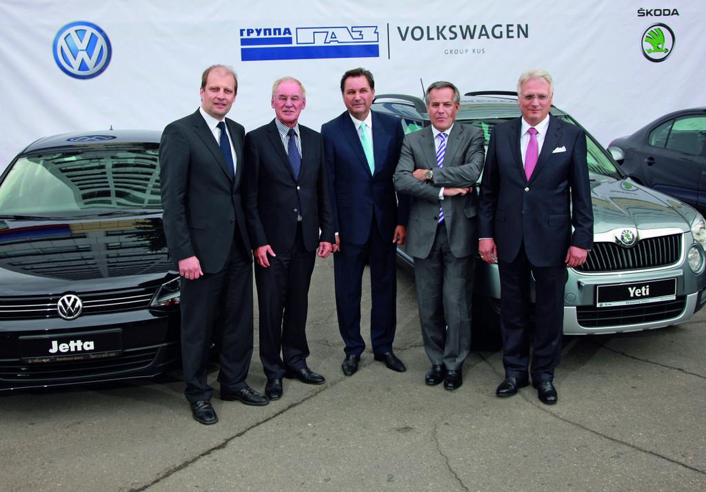 Volkswagen und GAZ vereinbaren Auftragsfertigung