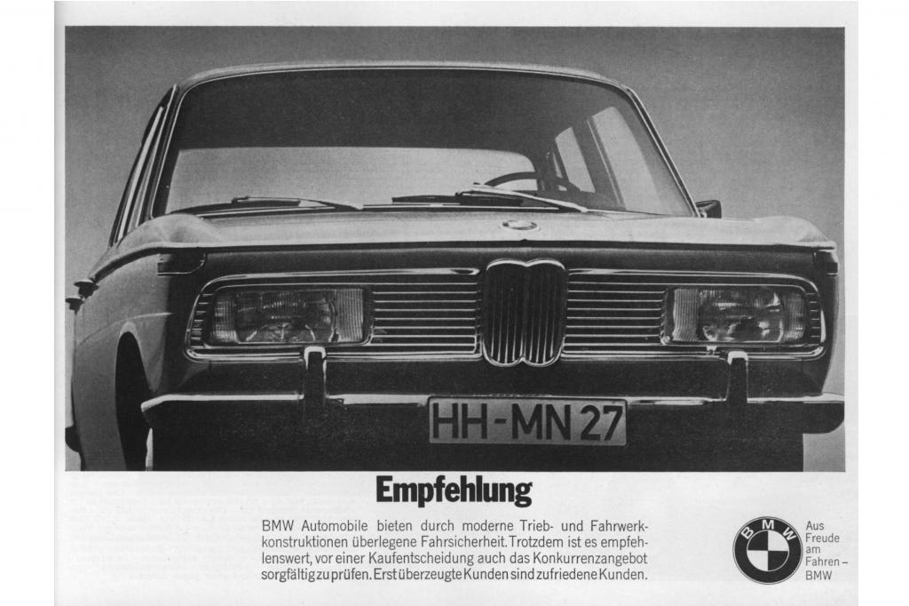Werbung für den BMW 2000