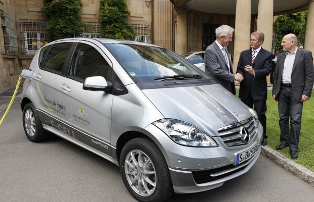 Zwei Mercedes-Benz A-Klasse E-Cell für die Landesregierung