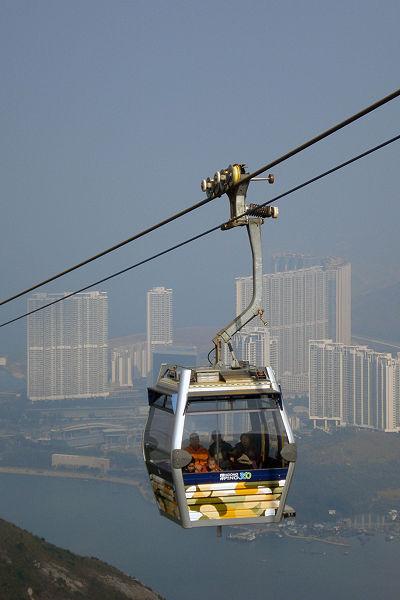 Zweiseil-Gondelbahn in Hongkong, Foto:Tksteven