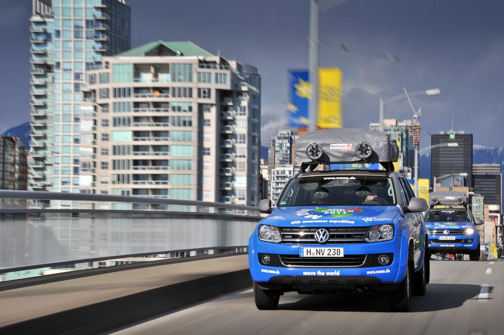 201EMove the World Tour201C führt Menschen und Maschinen an den Rand der Belastbarkeit. In Vancouver, Kanada.