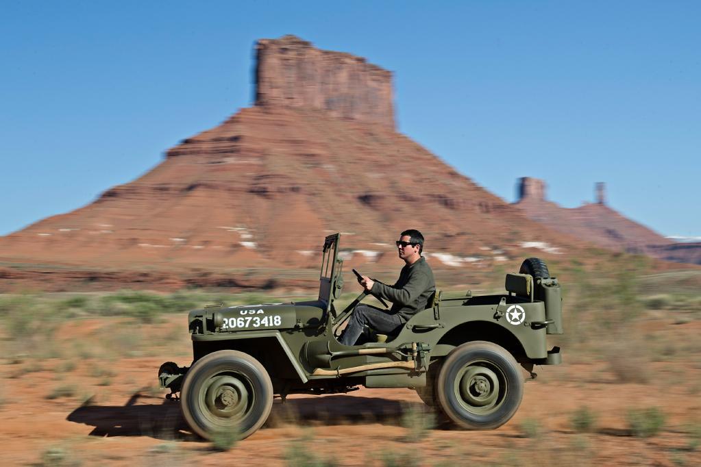 Auch heute noch macht der Jeep im Gelände eine extrem gute Figur.