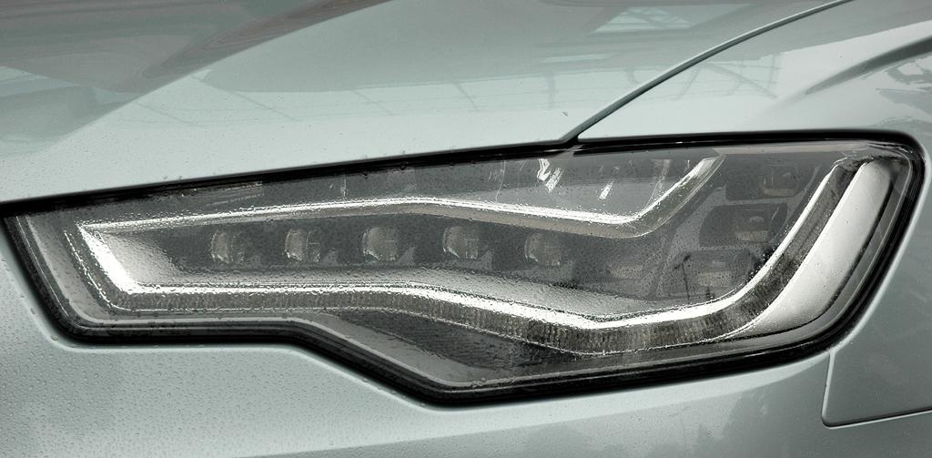 Audi A6 Hybrid: Moderne Leuchteinheit vorn.
