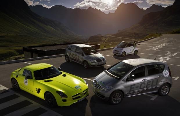 Auf die Hundertstel genau: Daimler stellt bei Silvretta-E-Auto 2011 größte Flotte